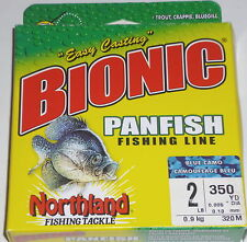 Northland Tackle Bionic Panfish Fishing Line (2#-Blue Camo-350 yd. Sp)