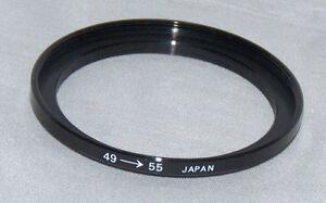 MARUMI 49mm - 55mm STEP UP RING BRAND NEW 49-55