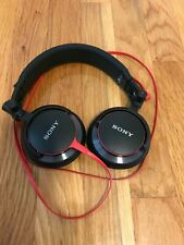 Sony MDR-V55 Headphones Over the Ear / Black & Red / EUC