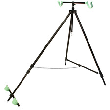 NGT BEACH PRO SEA FISHING TRIPOD FOR 2 RODS EXTENDABLE BEACH TRIPOD AND CASE 143