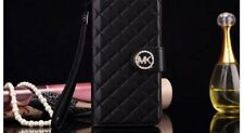 MICHAEL KORS IPHONE 6/6s FLIP WALLET CASE MK COVER  LATEST DESIGN - BLACK