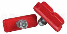 Kool Stop bicycle Continental THREADED brake pads for Skyway Mags RED (PAIR)