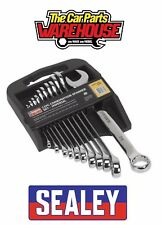 Sealey S0857 Combination Spanner Set 11pc Imperial 11 pieces