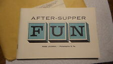 Vintage FARM JOURNAL BOOKLET After-Supper FUN, Book of Games