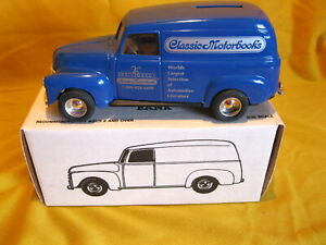 ERTL 1950 Chevy Panel Van Classic Motorbooks Bank Die Cast 1:24 Original Box
