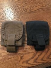 Lot Of 2 Canvas Cellphone Velcro Enclosed Holder With Belt Clip Black/Tan (CT)