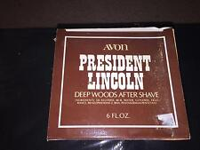 VINTAGE AVON PRESIDENT LINCOLN DEEP WOODS AFTER SHAVE NIB