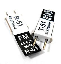 RC 40 MHz 40.675 FM Cristal TX & RX Receptor 40 MHz Negro canal 51