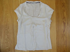 Boden Lady's Summer Silk Blend Top Blouse In Ivory Size 12-- GREAT VALUE!!!