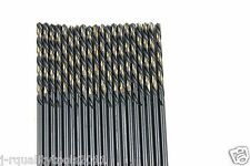 "20 PACK LEFT HAND BLACK & GOLD HIGH SPEED STEEL DRILL BITS 7/64"" USA"