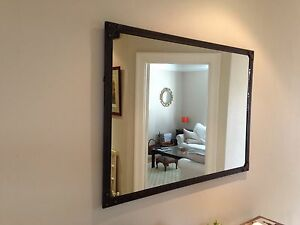 Large Mirror, artisan-style, Aged Rust colour