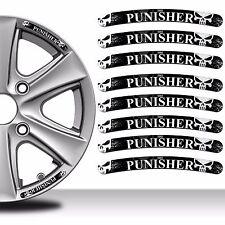 8 x THE PUNISHER WHEEL RIM VINYL STICKERS DECALS AUTO MOTO CAR TYRE TUNING RV 28
