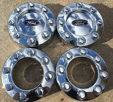 2005-2016 OEM Ford Factory F-250 8 Lug Wheel Chrome Center Caps 4x4 Set Of 4