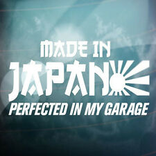 Made In Japan Perfected My Garage Car Window   Wall Vinyl Sticker Decor Gift