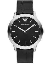 Emporio Armani AR1741 Men's Black Genuine Leather Watch 0492