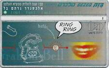 ISRAEL BEZEQ BEZEK PHONE CARD TELECARD 120 UNITS RING RING