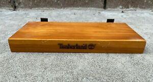 TIMBERLAND VINTAGE 90s Real Wood Slat Wall Shelf Shelves Advertising Display
