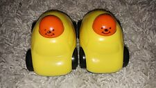 Lot Of 2 Vintage 1992 The First Years Push And Pull Back Yellow And Blue Cars