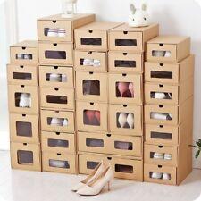 DIY Kraft Paper Assembly Drawer Shoe Box Organizer Men Women Shoes Storage Box