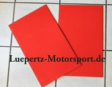 Schmutzfänger Steinschlagschutz rot 3mm Rallye Rallycross Autocross