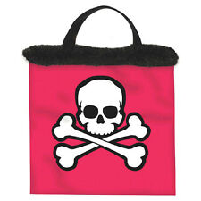 "14.5"" Pink Pirate Girl Skull Party Treat Loot Gift Tote Bag"