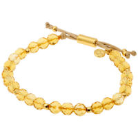 Gorjana Power Gemstone Citrine Beaded Bracelet For Abundance 17120527GPKG