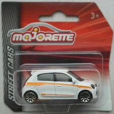 Majorette Renault Twingo III weiß mit orangenen Streifen Neu/OVP Kleinwagen Auto
