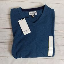 Small Mens Teal Blue V Neck Pullover Sweater Goodfellow & Co New