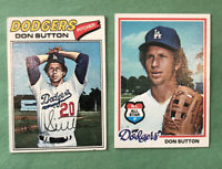 Don Sutton Baseball Card Lot Of (2) 1977 Topps #620 & 1978