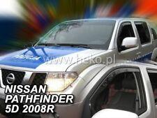 Saute vent NISSAN PATHFINDER 5-porte 2005-2012 4-tlg HEKO Foncé Déflecteurs