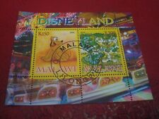MALAWI: 2008 DISNEYLAND & PLUTO - MINISHEET - UNMOUNTED USED MINIATURE SHEET