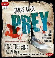 JAMES CAROL - PREY-DEINE TAGE SIND GEZÄHLT.EIN FALL FÜR JEFF  2 MP3 CD NEW