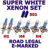 FIAT GRANDE PUNTO 2006+ set of h1 h4 h4 W5W SUPER WHITE XENON LIGHT BULBS