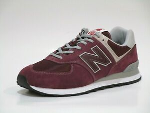 New Balance Men's ML574 Evergreen Sneaker Shoes, Burgundy/Grey