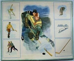 Ice Hockey Russia Soviet Small Poster 1960's