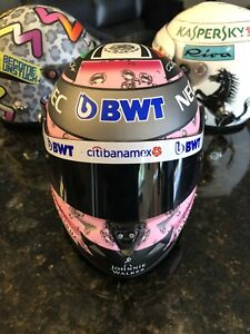 Sergio Perez 2017 Force India Formula 1 1:2 Scale Mini Helmet
