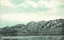 Vintage Postcard Crow Creek Grandeur Near Laramie WY Albany County