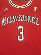 Milwaukee Bucks Brandon Jennings Red Replica Jersey Size Large