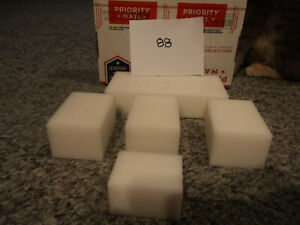 WHITE Delrin/ Acetal sheet/ Block, CNC Mill    5 Pieces (#48/88)