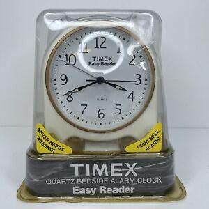 Timex Easy Reader Quartz Bedside Alarm Clock - 3610 TK - Loud Bell Alarm - NOS