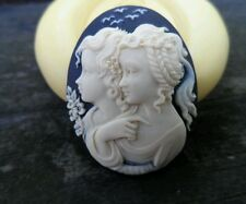 Bohemian Twins Cameo  Silicone push mold polymer clay resin SUGAR CRAFT