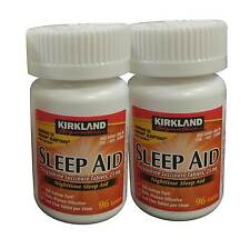 192 Tablets Kirkland Sleep Aid Doxylamine Succinate 25mg FREE WORLDWIDE SHIPPING
