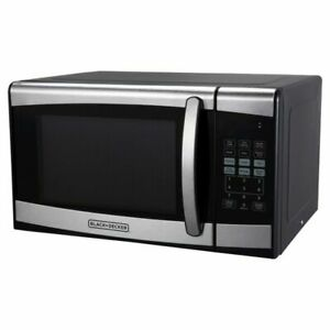 Black Decker 0.9cu FT 900watt Microwave Oven Stainless Steel