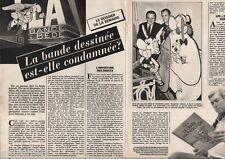 Coupure de presse Clipping 1984 La Bande dessinée est elle condamnée  (4 pages)