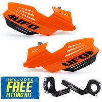 UFO Vulcan Universal MX Enduro Handguards in KTM Orange Standard, Fat Bars