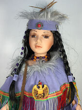 """New 16 inch Native American Doll """"Chepi"""" limited edition certificate (R1853)"""