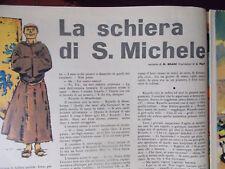 corriere dei piccoli LA SCHIERA DI SAN MICHELE dessin par HUGO PRATT orig.1963