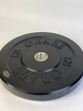Single 25 lb Black Bumper Weight Plate, Olympic / 2""