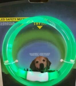🔥Green LED Safety Necklace, Universal, Reusable Visibility Necklace for Dogs