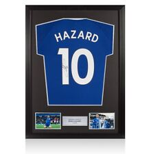 Framed Eden Hazard Signed Chelsea Training Jersey Shirt - Number 10